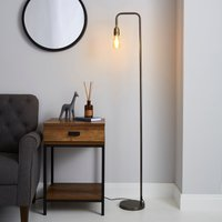 Marsden Industrial Floor Lamp Nickle (Black)