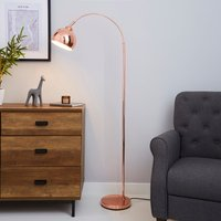 Herm Arc Copper Floor Lamp Copper