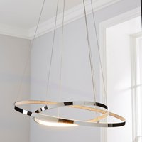 image-Marcella 2 Light Integrated LED Hoops Chrome Ceiling Fitting Chrome