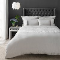 Keeley Silver Jacquard Duvet Cover and Pillowcase Set Silver