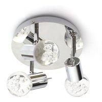 image-Spa Bubble LED 3 Light Bathroom Ceiling Light Chrome