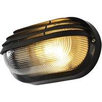 image-Coast Puck Oval Light Outdoor Wall Light Black Black