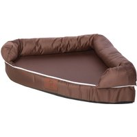 Bunty Brown Cosy Couch Corner Dog Bed Brown