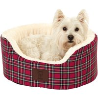 Bunty Red Heritage Dog Bed Red