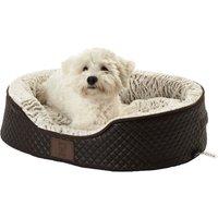Bunty Brown Manhattan Quilted Dog Bed Brown