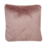 image-Fluffy Faux Fur Cushion Cover Pink
