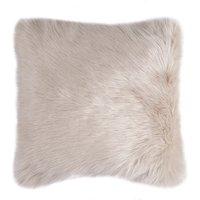 image-Fluffy Faux Fur Cushion Cover Cream