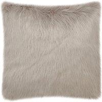 Fluffy Faux Fur Cushion Cover Brown