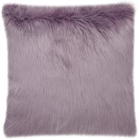 image-Fluffy Faux Fur Cushion Cover Purple