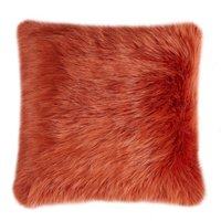 image-Fluffy Faux Fur Cushion Cover Red