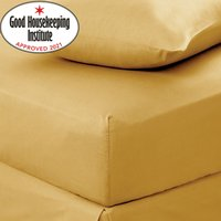 Non Iron Plain Fitted Sheet Yellow