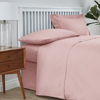 Easycare Cotton 180 Thread Count Flat Sheet Pink