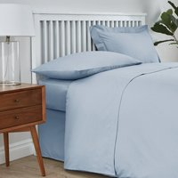 Easycare Cotton 180 Thread Count Flat Sheet Blue