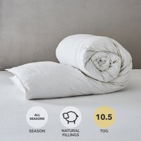 Hotel Duck Down 10.5 Tog Duvet White