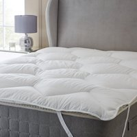 Hotel down touch mattress topper white
