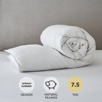 Hotel Duck Down 7.5 Tog Duvet White
