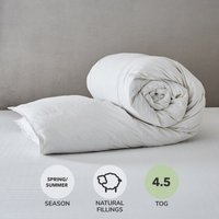 Hotel Duck Down 4.5 Tog Duvet White