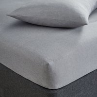 Fogarty Soft Touch Fitted Sheet Grey Marl