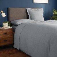 Fogarty Soft Touch Flat Sheet Grey Marl