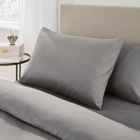 Fogarty Soft Touch Grey Marl Housewife Pillowcase Pair Grey Marl