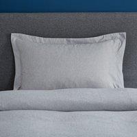 Fogarty Soft Touch Grey Marl Oxford Pillowcase Grey Marl