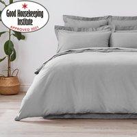 Non Iron Plain Dye Slate Duvet Cover Grey