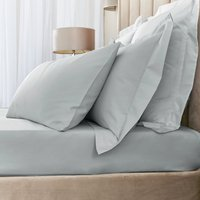 Hotel Egyptian Cotton 230 Thread Count Sateen Fitted Sheet Silver