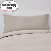 Non Iron Plain Dye Natural Bolster Pillowcase Natural