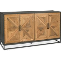 Indus Wide Sideboard Brown and Grey