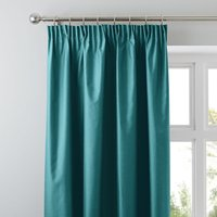 Nova Jade Blackout Pencil Pleat Curtains Green