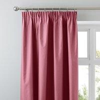 Nova Fuchsia Blackout Pencil Pleat Curtains Fuchsia