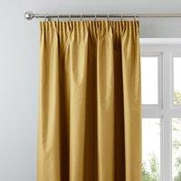 Nova Old Gold Blackout Pencil Pleat Curtains Gold