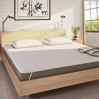 Panda bamboo memory foam mattress topper white