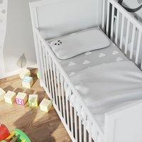 image-Panda Kids Bamboo Toddler Pillow White