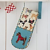 Ulster Weavers Hound Dog Double Oven Glove Beige, Blue and Yellow