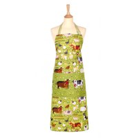 Ulster Weavers Jennie's Farm Cotton Apron Green, White and Brown