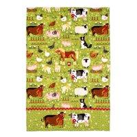 Ulster Weavers Jennie's Farm Cotton Tea Towel Green, Pink and Black