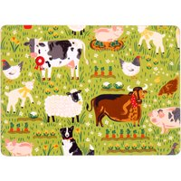 Ulster Weavers Jennies Farm Set of 4 Placemats Green, White and Brown