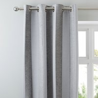 Parker Grey Chenille Eyelet Curtains Grey