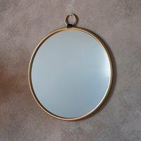 Bayswater Gold Round Mirror Gold