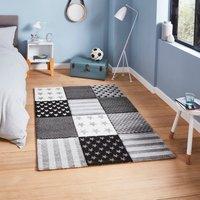 Grey Stars and Stripes Rug Grey