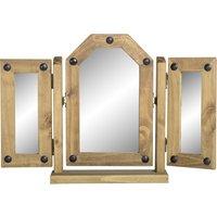 Corona Triple Swivel Mirror Brown