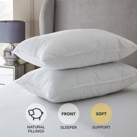 Hotel Softened Feather Pillow Pair White