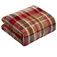 image-Red Weighted Blanket Red, Blue and Brown