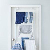 3 Tier Over Door Indoor Clothes Airer White