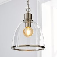 image-Zara Glass Pendant Satin Nickel