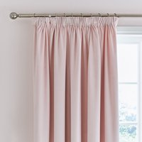 Ashford Blush Velour Pencil Pleat Curtains Blush