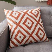 image-Geo Diamond Paprika Cushion Cover Butterscotch
