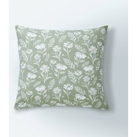 image-Timeless Floral Print Cushion Cover Sage (Green)