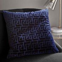 image-Key Cut Velvet Navy Cushion Cover Navy